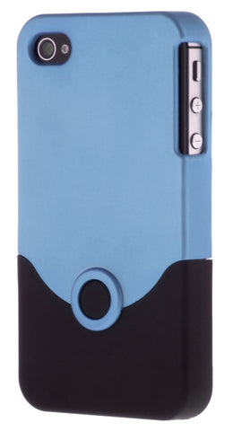 iPhone 4/4S Plastic Light Blue and Black