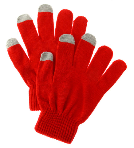 Light Red Touch Gloves