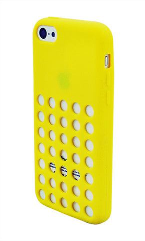 iPhone 5C Hole Punch Yellow