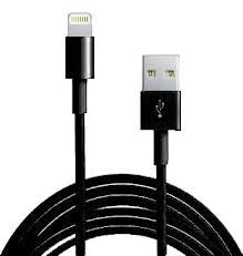 Apple Certified iPhone 5/5S/5C/6 Lightning to USB Cable Black (1 m)