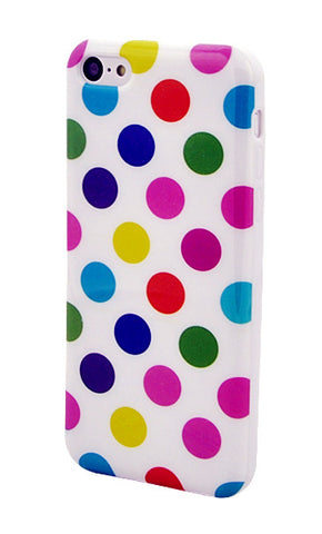iPhone 5C Polka Dot Multi-Color and White