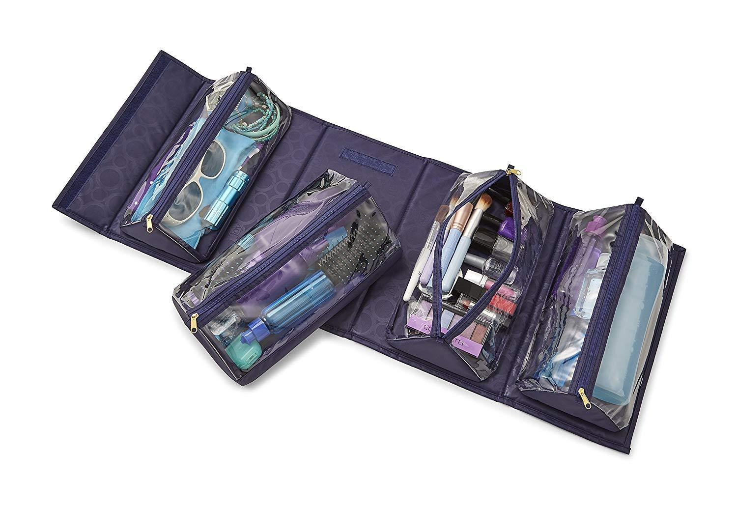 Hangable Rollable Portable Multifunction Toiletry Bag