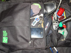 Classic Bike Suit Bag packed with Tools and Gadgets