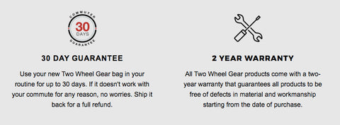 Two Wheel Gear - Commuter Guarantee and Warranty