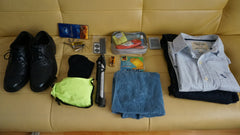 Anton's daily bicycle commuting items