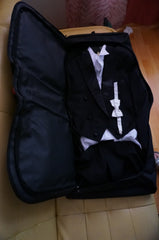 Orchestra suit tails packed in Classic Bike Suit Bag