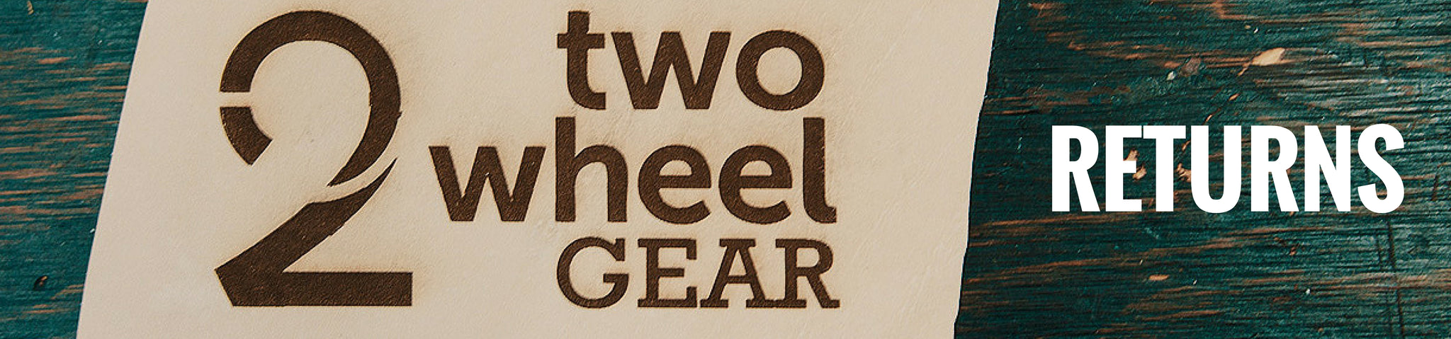 Two Wheel Gear Product Returns Sign