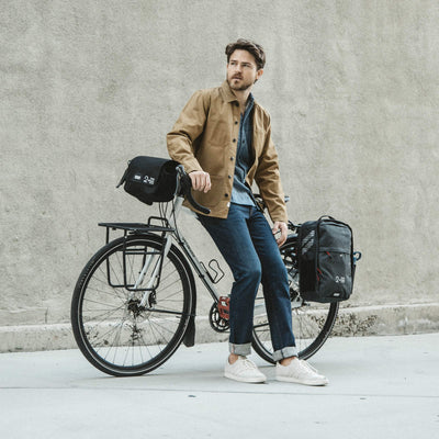 Two Wheel Gear - Bike Commuter - No Sweat - Pannier Backpack and Handlebar Bag