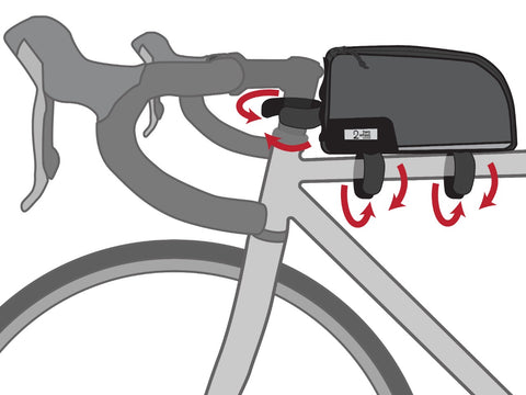 Two Wheel Gear - Commute Top Tube Bag - Instructions