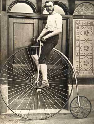 Old time bicycle