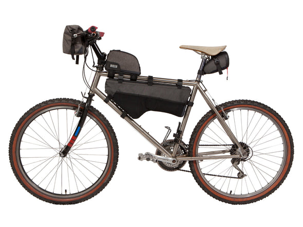 Two Wheel Gear - Bicycle Frame Bag - Large - Graphite - 6 L - Side Bike - Handlebar bag, top tube, seat pack