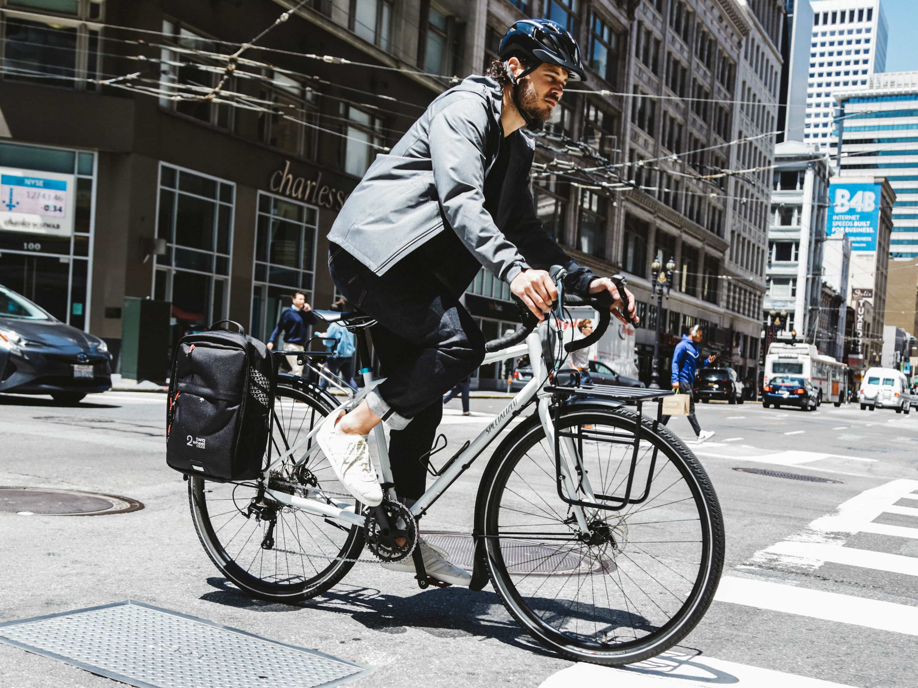 Black, Graphite - Bike Bags - Pannier Backpack Convertible (2018) - Bike to work