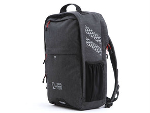 Two Wheel Gear - Pannier Backpack Convertible - Bike Bag - Graphite Grey - Side Profile (2452862926908)