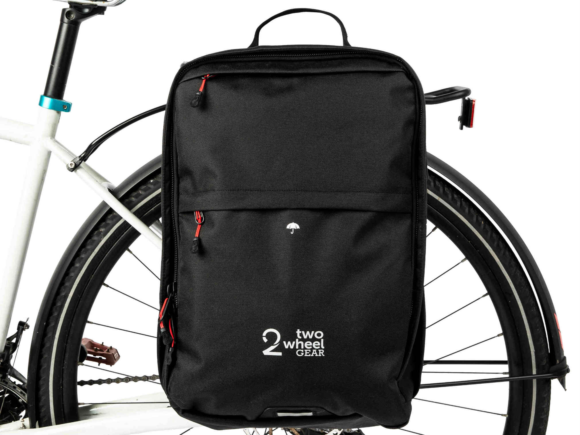 Two Wheel Gear Pannier Backpack Convertible 2 in 1 Bike Commuting and Travel Bag