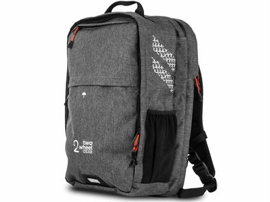 Graphite - Two Wheel Gear - Bags - Pannier Backpack Convertible PLUS+ - Side Profile