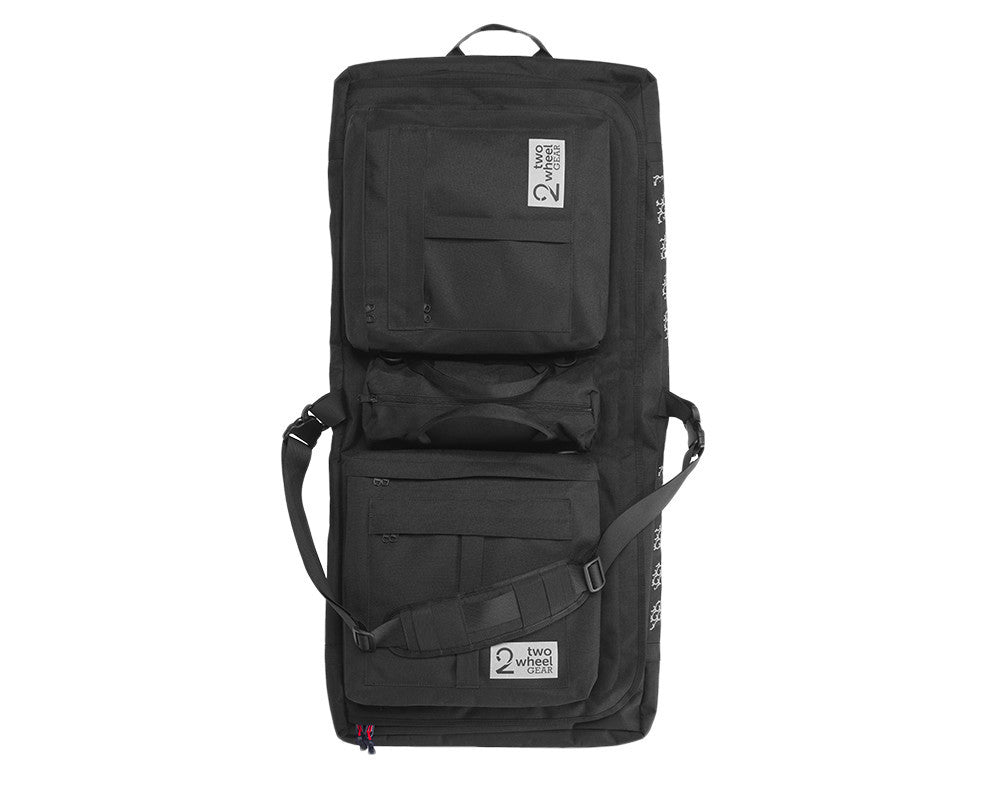 Black Classic 2.0 Garment Pannier - Hanging showing shoulder strap