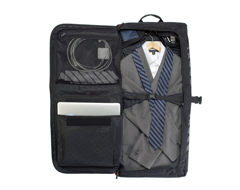 Classic 2.0 Garment Pannier - Full Travel Bag packed with suit and laptop