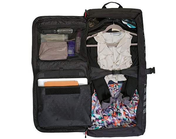 Classic 2.0 Garment Pannier - Travel Bag packed with women's clothes