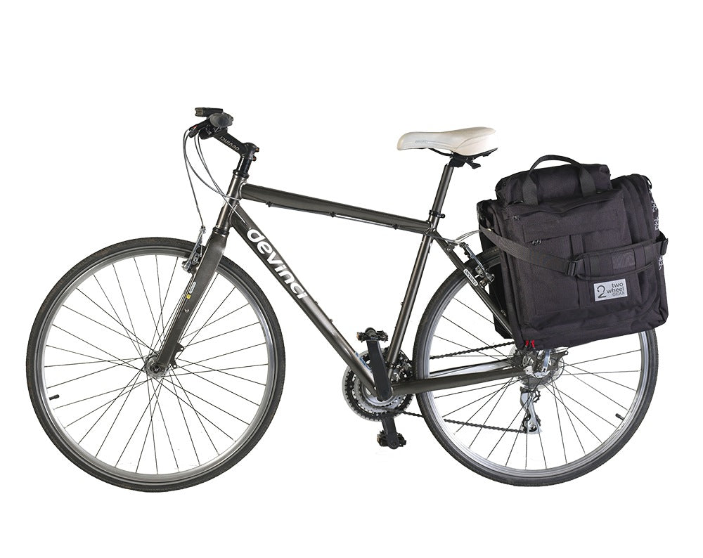 Black Classic 2.0 Garment Pannier - mounted on rear bike rack