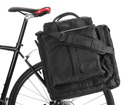 Executive 2.0 Garment Pannier - Black Waxed Canvas , Bags - Two Wheel Gear, Two Wheel Gear - 1 (376318840)