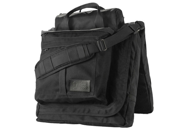 Executive 2.0 Garment Pannier - Black Waxed Canvas , Bags - Two Wheel Gear, Two Wheel Gear - 3 (376318840)