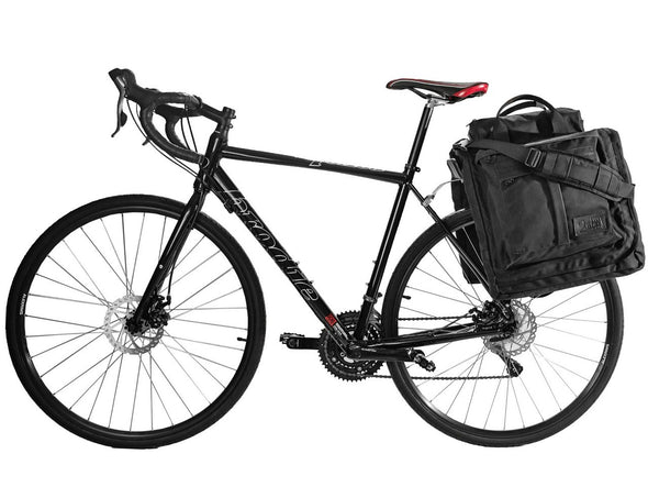 Executive 2.0 Garment Pannier - Black Waxed Canvas , Bags - Two Wheel Gear, Two Wheel Gear - 4