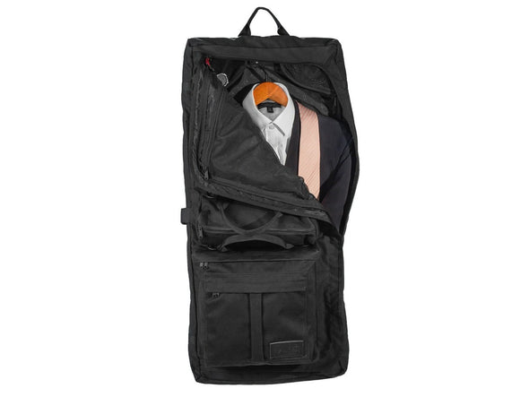 Executive 2.0 Garment Pannier - Black Waxed Canvas , Bags - Two Wheel Gear, Two Wheel Gear - 6 (376318840)