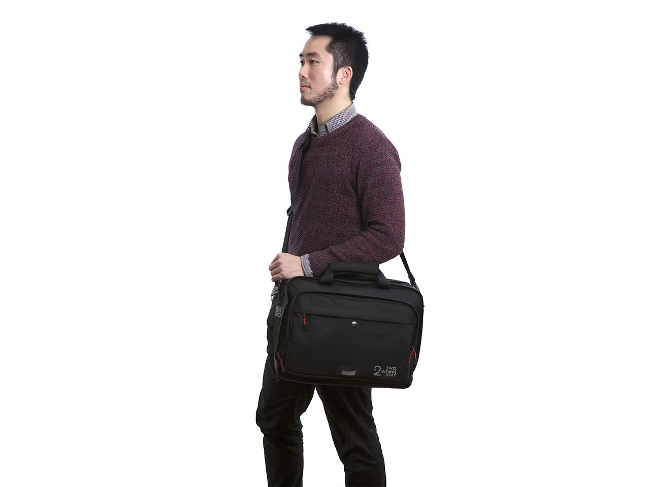 Black - Bike Bags - Pannier Briefcase Convertible (2018) - Man