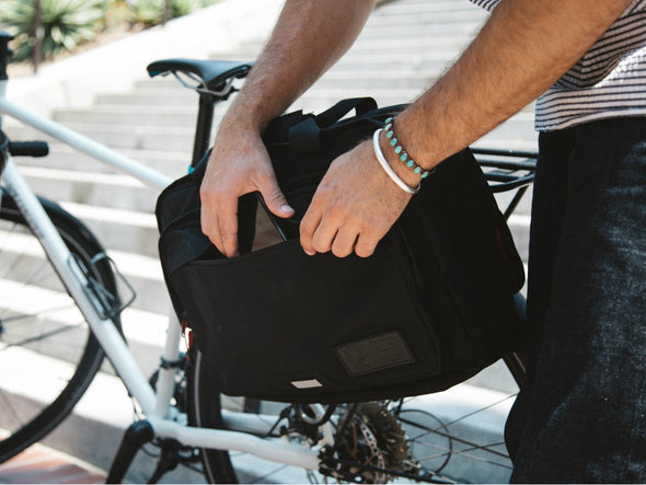 Black, Graphite, Canvas - Bike Bags - Pannier Briefcase Convertible (2018) (549233164348)