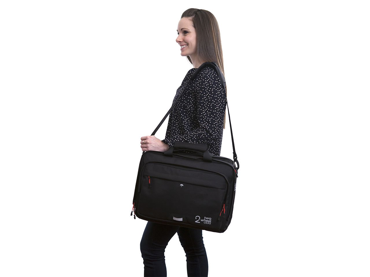Black - Bike Bags - Pannier Briefcase Convertible (2018) - Woman