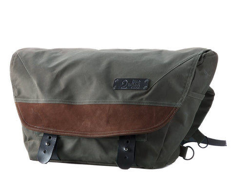 The Heath Waxed Canvas Messenger Bag - Olive , Bags - Two Wheel Gear, Two Wheel Gear - 1