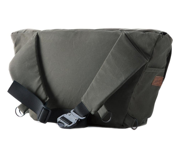 The Heath Waxed Canvas Messenger Bag - Olive , Bags - Two Wheel Gear, Two Wheel Gear - 6 (335393761)