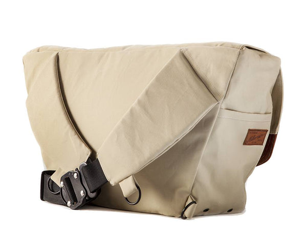 The Heath Waxed Canvas Messenger Bag - Stone White , Bags - Two Wheel Gear, Two Wheel Gear - 5 (335394053)