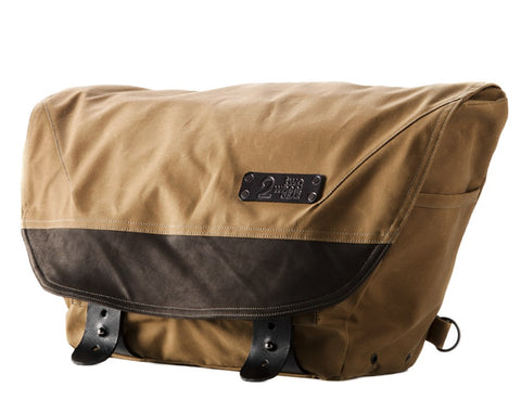 The Heath Waxed Canvas Messenger Bag - Tan , Bags - Two Wheel Gear, Two Wheel Gear - 1
