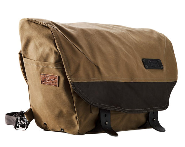 The Heath Waxed Canvas Messenger Bag - Tan , Bags - Two Wheel Gear, Two Wheel Gear - 4 (335395253)