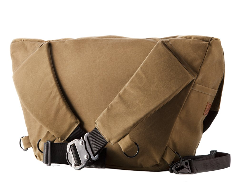 The Heath Waxed Canvas Messenger Bag - Tan , Bags - Two Wheel Gear, Two Wheel Gear - 5
