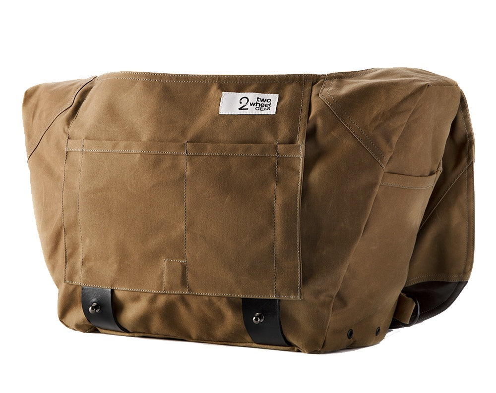 The Heath Waxed Canvas Messenger Bag - Tan , Bags - Two Wheel Gear, Two Wheel Gear - 6