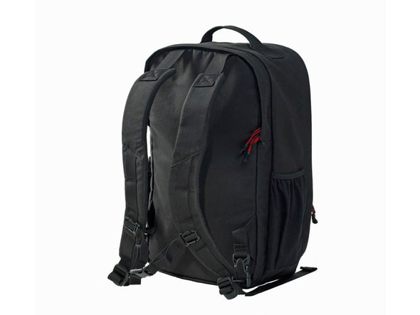 Pannier Backpack Convertible - Backpack Mode - Black Waxed Canvas - Two Wheel Gear - Straps