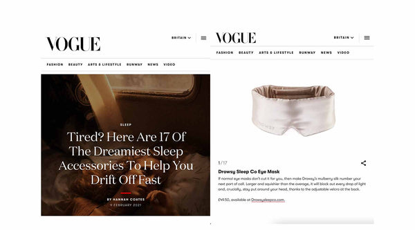 Drowsy Sleep Co Vogue Magazine Best Sleep Accessories