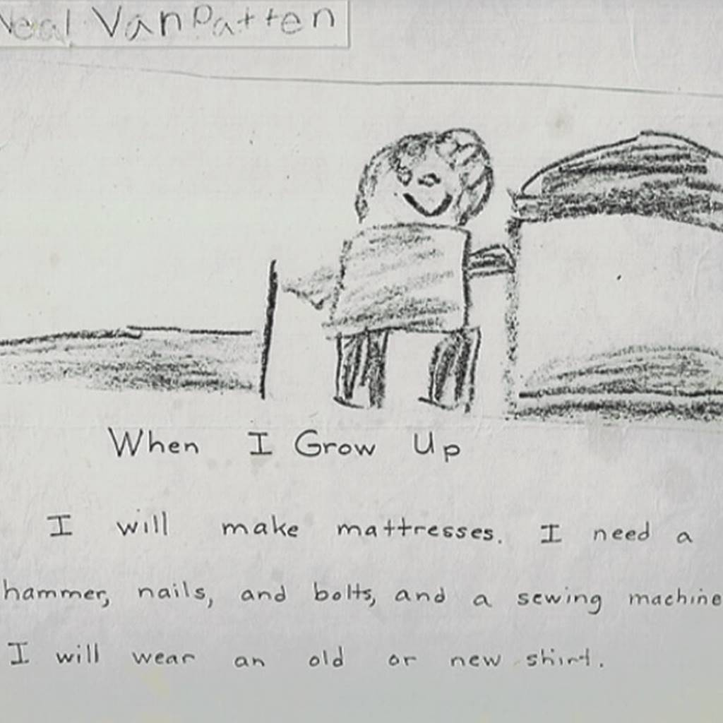 When I grow up drawing by Neal in 2nd grade