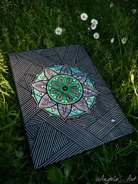 #4.  Mandala/Zentangle Hybrid Canvas / SOLD /