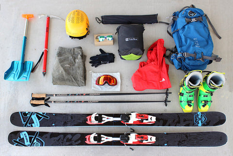snow ski packing list gear