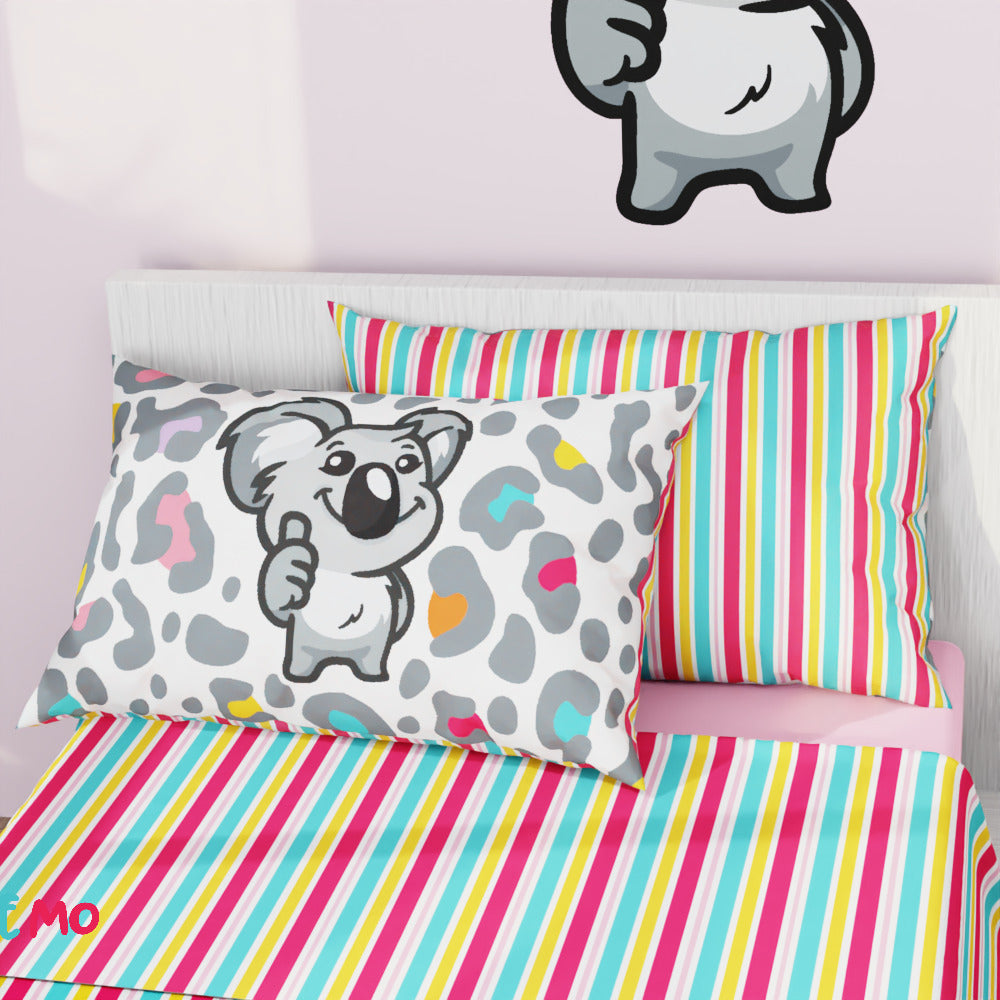 G'Day Koala Camouflage Cotton Pillowcase Pair