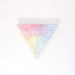 """Pastel Spectrum"" Triangle Painting"