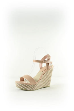 Nude wedge sandal