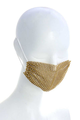 Rhinestone breathable face covering