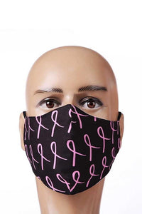 Pink ribbon filter changeable face mask