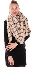 Load image into Gallery viewer, Oversized plaid scarf