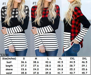 Plaid stripe longsleeve