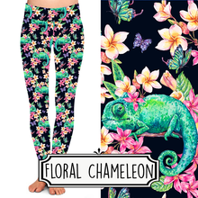 Load image into Gallery viewer, Yoga Style Leggings - Floral Chameleon by Eleven & Co.
